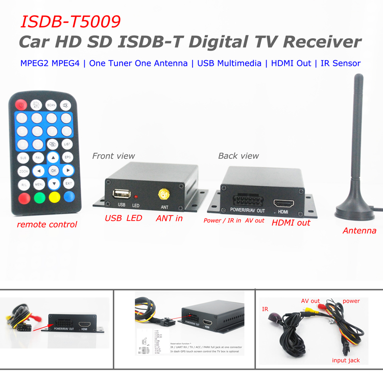 ISDB-T5009 Digital TV Tuner with PVR for Japan Brazil Chile