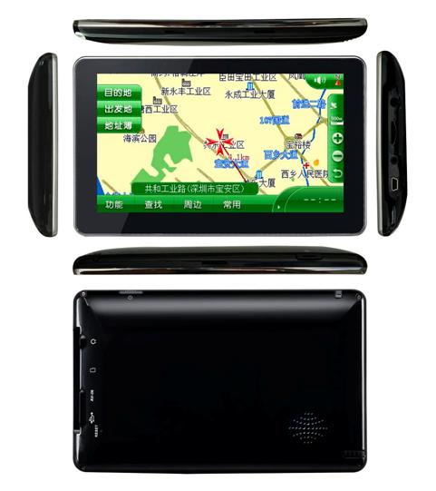 7 inch touch screen GPS with Bluetooth, ISDB-T