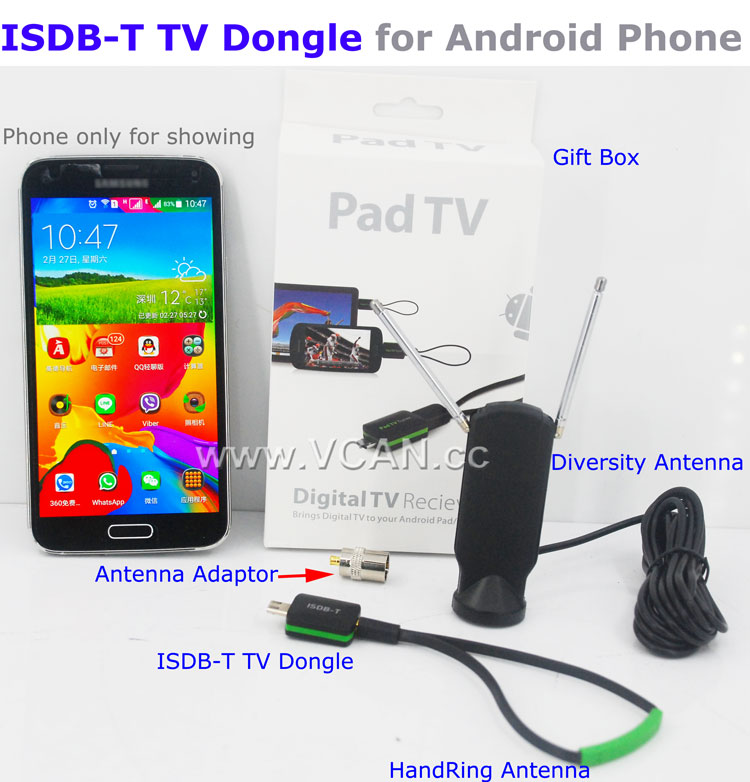 ISDB-T11 ISDB-T TV receiver for Android Phone Pad Micro USB TV tuner