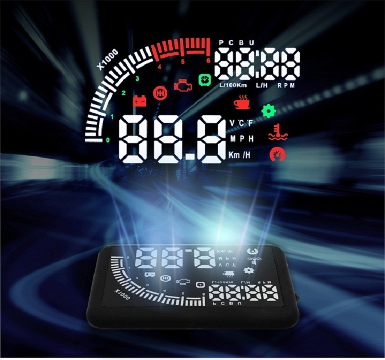 VCAN1242 Car head up display Universal 5.5-inch LCD HUD for car safety driving Remote control
