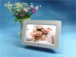 Acrylic Frame Material 10 inch digital photo frame Video Playback MP3 Function