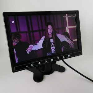 9 inch LCD monitor with USB SD mp5 player bulit in speaker with earphone plug