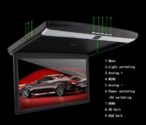 17.3inch high-definition screen car flip down Roof mount lcd monitor with MP5 HDMI USB SD
