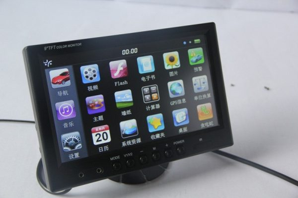 9 INCH Touch screen Windosce6.0 Monitor With GPS