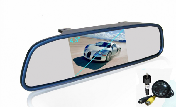 """REARVIEW MIRROR WITH 4.3"""" TFT AND CAMERA"""