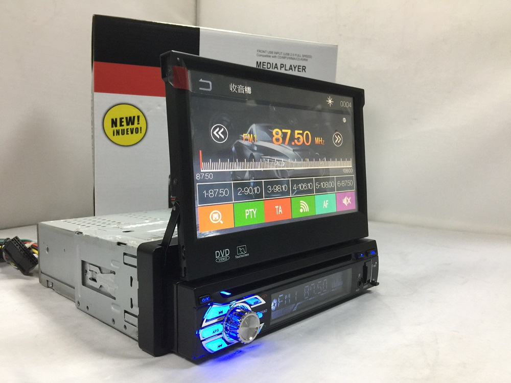 VCAN1634 7inch 1 din car DVD player with digital touch screen