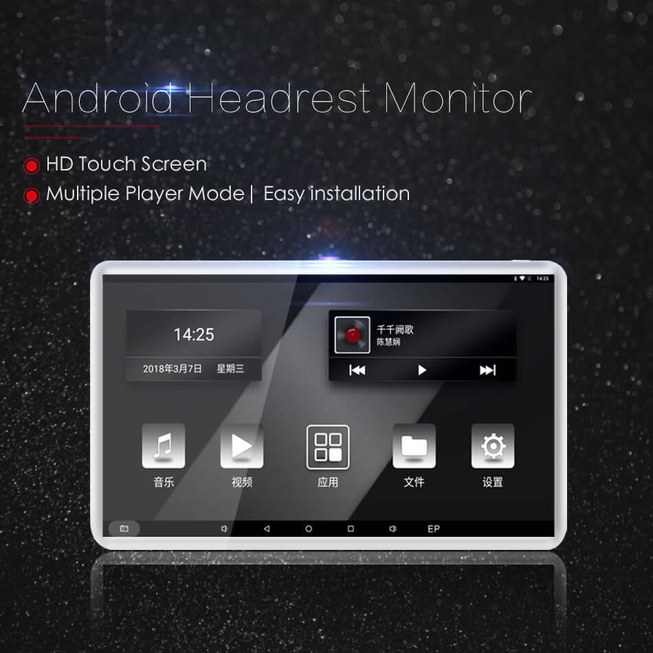 Android Headrest Player 11.6 inch IPS HD Monitor With WiFi Speaker Bluetooth FM transmitter Seat Touch Screen 12V 2PCS Pair