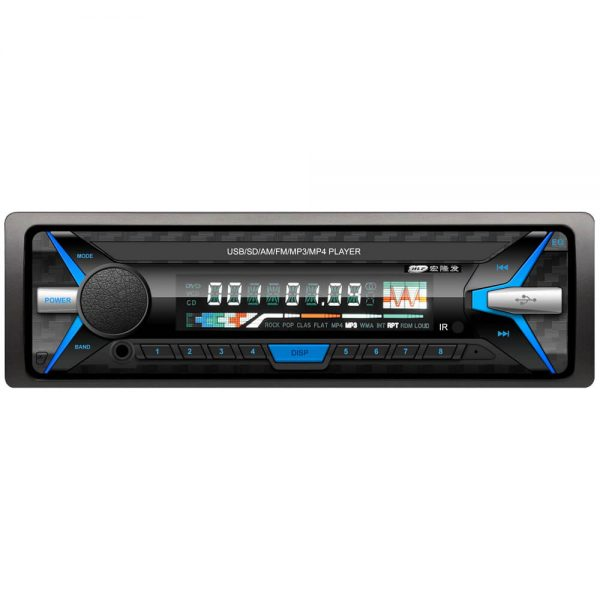 Car USB MP3 FM Player SD Bluetooth Vcan1600 Fixed Panel One Din Size Blue LED